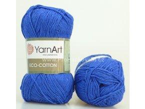 příze Eco Cotton 774 modrá
