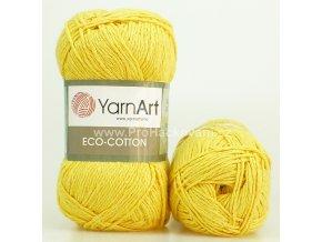 příze Eco Cotton 764 žlutá