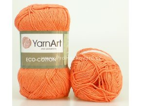 příze Eco Cotton 779 lososově oranžová