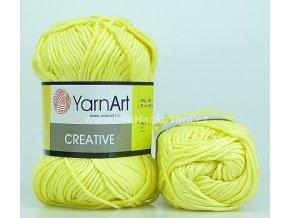příze Creative 224 světle žlutá