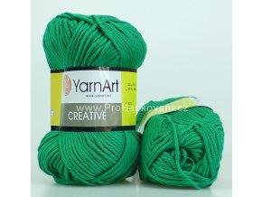 příze Creative 227 tmavší zelená