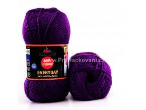 příze Everyday 70009 tmavě fialová