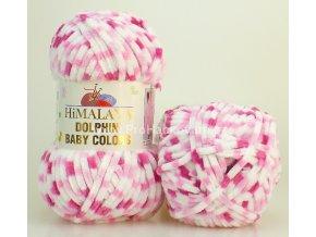 příze Dolphin Baby Colors 80414 bílá, světle růžová, růžová