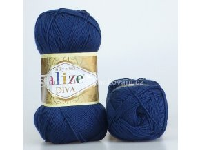 příze Diva 361 tmavě modrá
