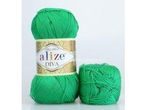 příze Diva 123 zelená