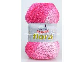 příze Flora lurex 5 růžový melír