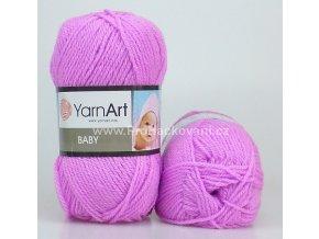 příze Baby 635 růžově fialková