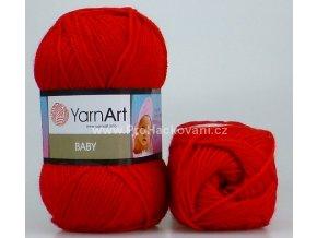příze Baby 576 červená