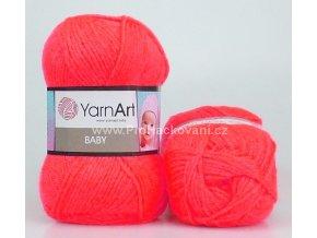 příze Baby 8040 neon růžově oranžová