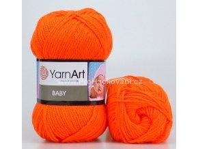 příze Baby 8279 oranžová