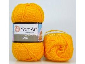 příze Baby 586 sytá žlutá