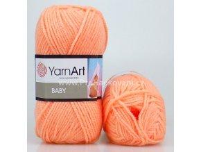 příze Baby 622 lososově oranžová