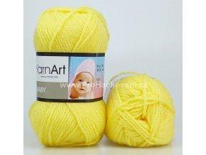 příze Baby 315 žlutá