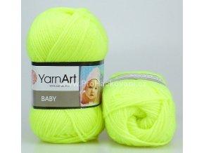 příze Baby 8232 neon žlutá
