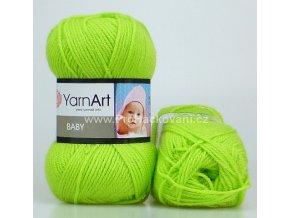 příze Baby 13854 svěží zelená