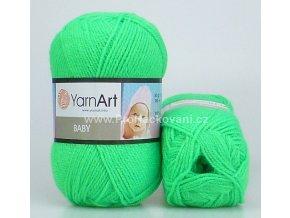 příze Baby 8233 neon zelená