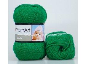 příze Baby 338 zelená