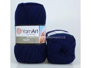 příze Baby 583 tmavě modrá