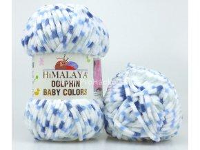 příze Dolphin Baby Colors 80411 bílá, šedá, modrá