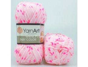 příze Baby Color 5113 růžová s neon růžovou