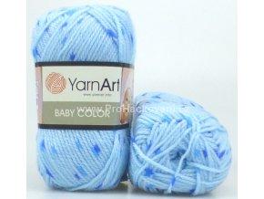 příze Baby Color 265 variace modré