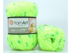 příze Baby Color 274 variace zelené