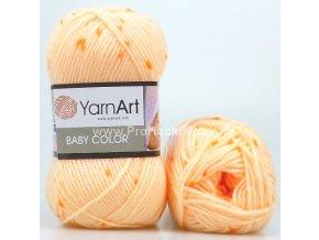 příze Baby Color 272 meruňková s oranžovou