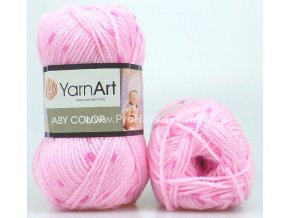 příze Baby Color 266 variace růžové