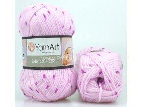 příze Baby Color 271 variace fialové