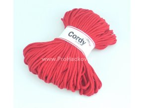 šňůry Cordy 5 mm červené