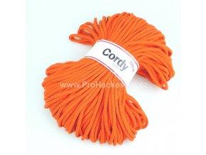 šňůry Cordy 5 mm oranžové