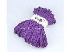 šňůry Cordy 5 mm fialové