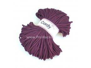 šňůry Cordy 5 mm tmavé burgundy