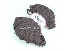 šňůry Cordy 5 mm tmavě hnědé