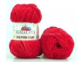 příze Dolphin Baby 80352 tmavě červená