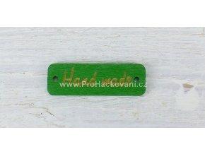 Hand made obdélník zelený