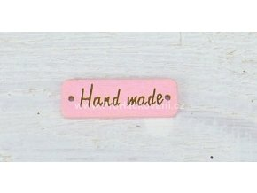 Hand made obdélník světle růžový