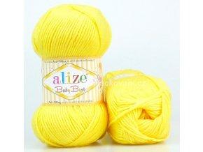 příze Baby Best 113 žlutá