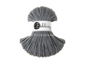 Bobbiny šňůry junior ocelově šedé 3mm