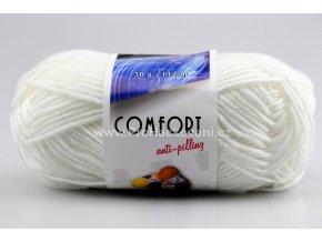 příze Comfort 57076 bílá