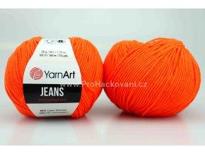 příze YarnArt Jeans 77 oranžová