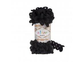 příze Puffy 60 černá