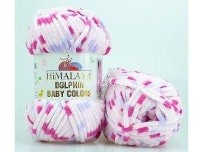příze Dolphin Baby Colors 80402 světle růžová s fialkovou a fuchsiovou