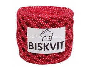 špagáty Biskvit 965 červené s puntíky