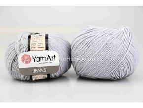 příze YarnArt Jeans 80 pastelově šedá