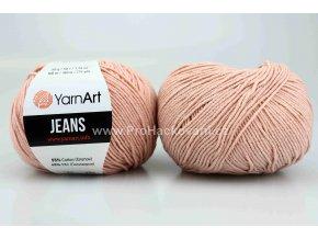 příze YarnArt Jeans 83 světlá starorůžová