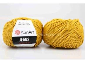 příze YarnArt Jeans 84 hořčicová