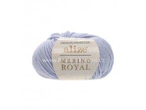 příze Merino Royal 480 světle modrá