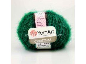 příze Christmas 48 paví zelená