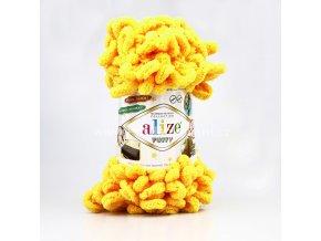příze Puffy 216 sytě žlutá